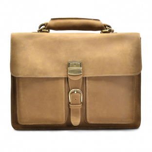 TAN TWO-POCKET BRIEFCASE MYKEL. - 1