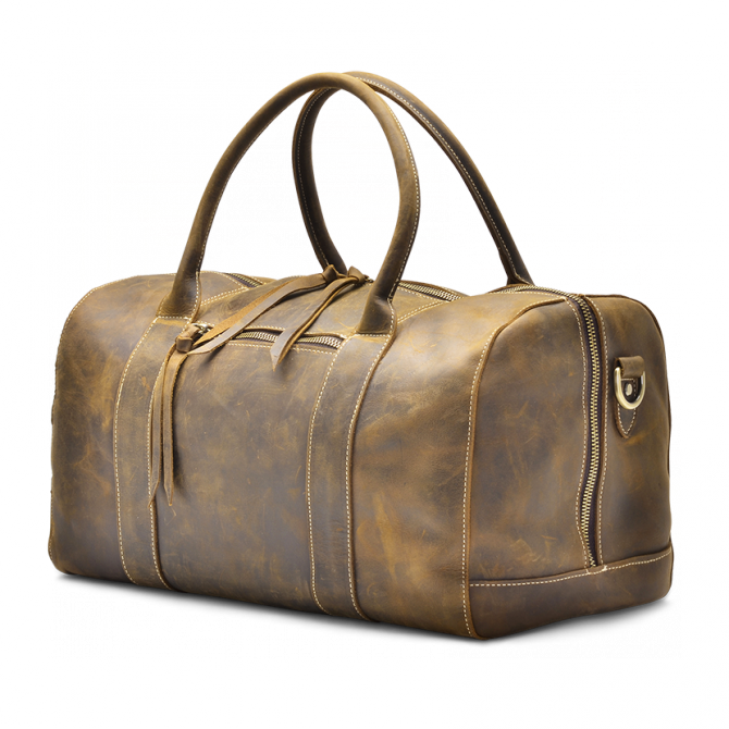 WALNUT OVERNIGHT BAG CRISTEN. - 3