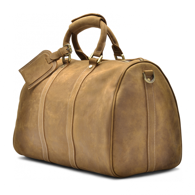 Tan Weekend Bag Laken