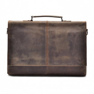 DARK WALNUT MESSENGER BAG WENDEL. - 1