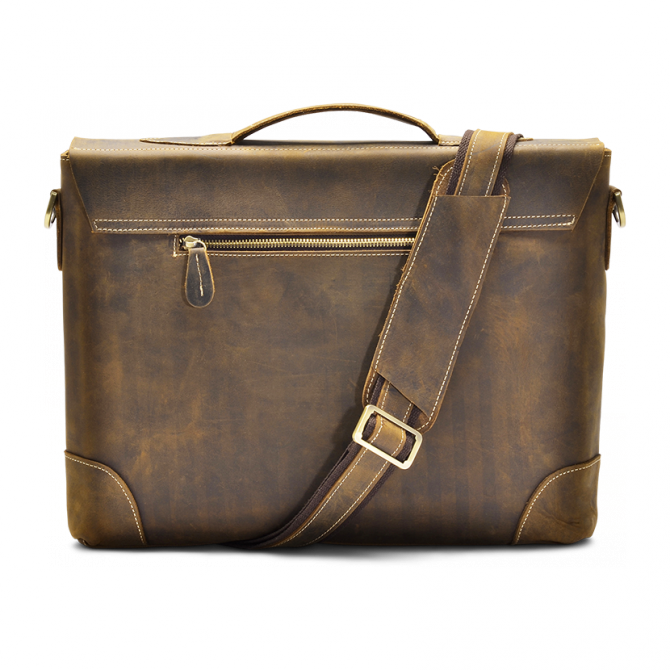 WALNUT MESSENGER BAG BJORN. - 4