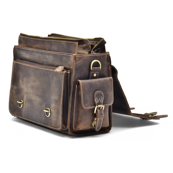 DARK WALNUT CAMERA BAG JAYLEN. - 4