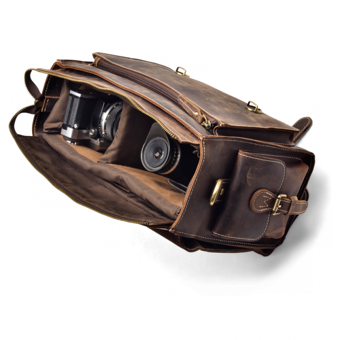 DARK WALNUT CAMERA BAG JAYLEN. - 5