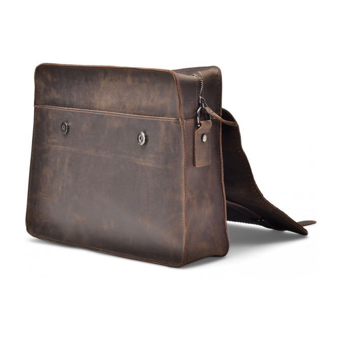 UMBER ZIPPER MESSENGER BAG ISIDRO. - 4