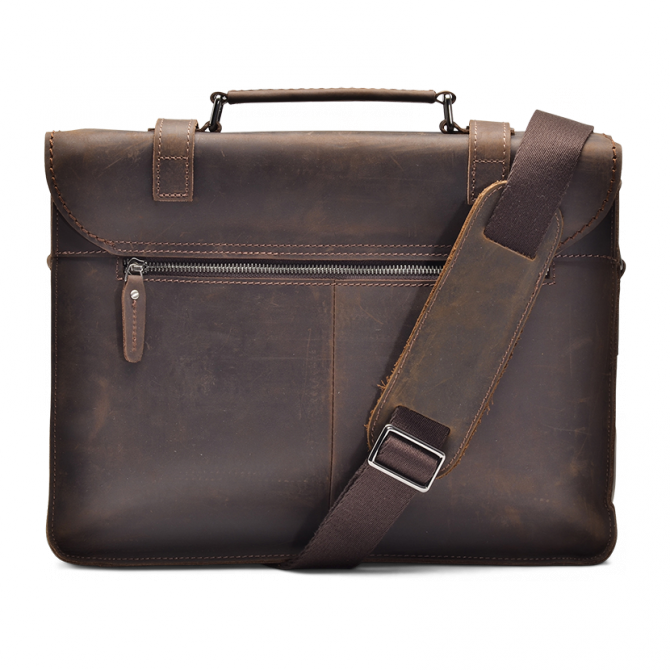 UMBER ZIPPER MESSENGER BAG ISIDRO. - 3
