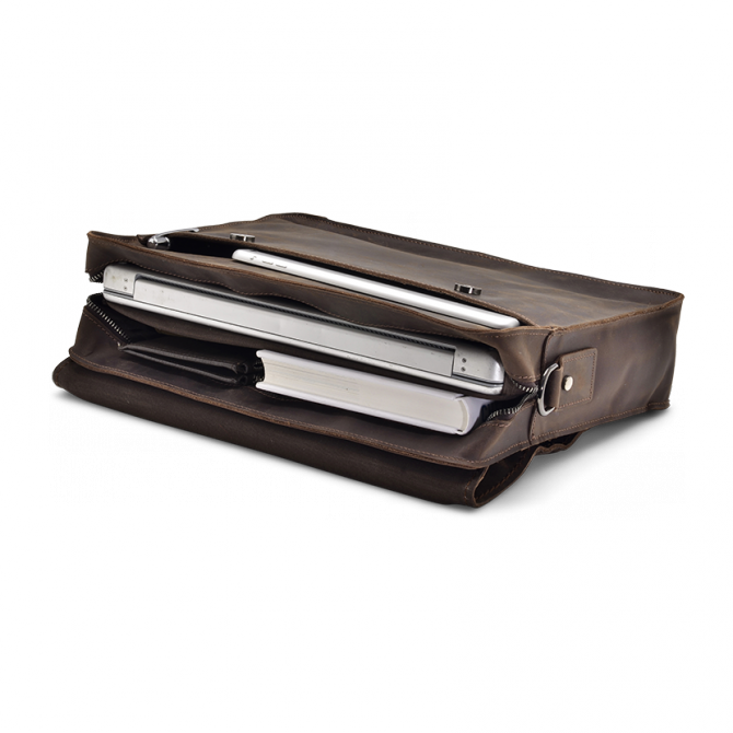 UMBER ZIPPER MESSENGER BAG ISIDRO. - 5