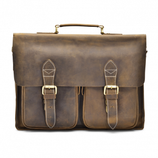 WALNUT TWO-POCKET BRIEFCASE TYRIK. - 1