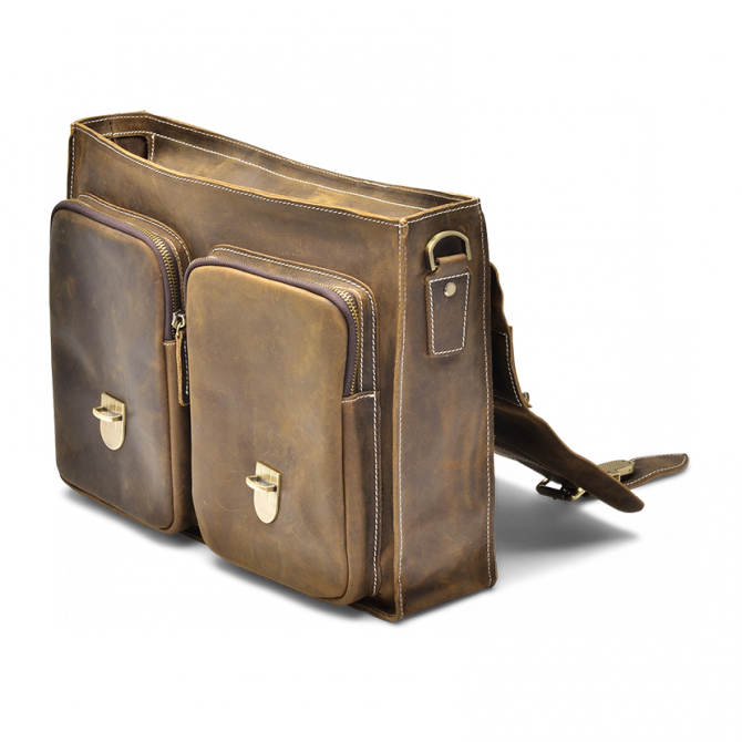 WALNUT TWO-POCKET BRIEFCASE TYRIK. - 4