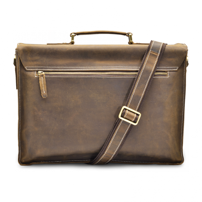 WALNUT TWO-POCKET BRIEFCASE TYRIK. - 3