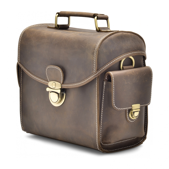 WALNUT CAMERA BAG EDRIS. - 2