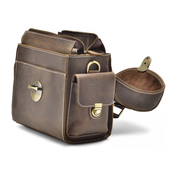 WALNUT CAMERA BAG EDRIS. - 5