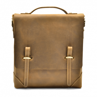 TAN SLIM MESSENGER BAG