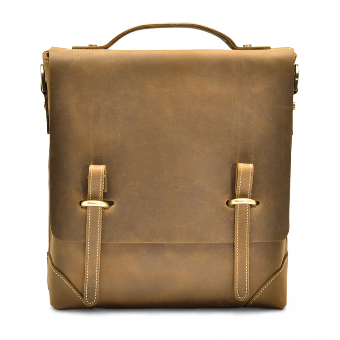TAN SLIM MESSENGER BAG GRAYSEN. - 1
