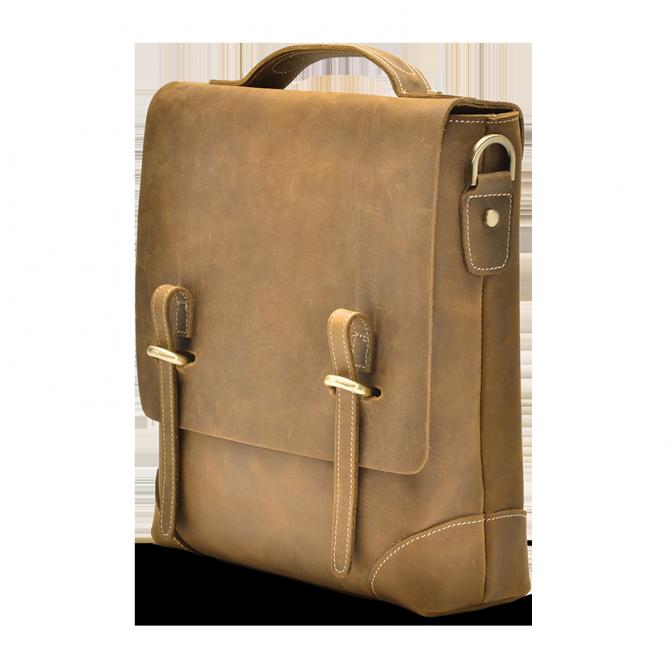 TAN SLIM MESSENGER BAG GRAYSEN. - 2