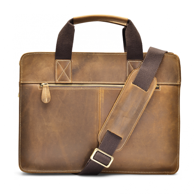 TAN TOP-LOADER BRIEFCASE FERRELL. - 3