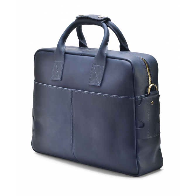 DARK BLUE SLIM BRIEFCASE MAGNUS. - 2