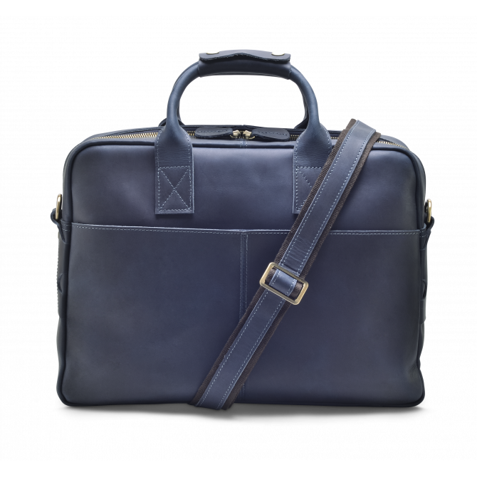 DARK BLUE SLIM BRIEFCASE MAGNUS. - 3