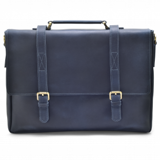 DARK BLUE ZIPPER MESSENGER BAG KARSTEN. - 1