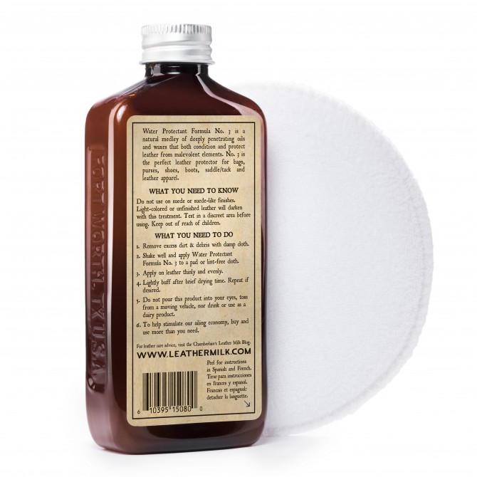 CHAMBERLAIN'S FORMULA N°3 - 6OZ LEATHER CARE WATER PROTECTANT - 4