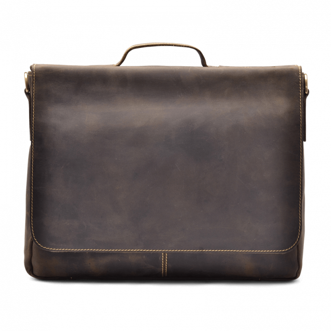 UMBER FLAP-OVER MESSENGER BAG LYDELL. - 1